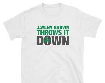 Jaylen Brown Throws It Down Celtics T Shirt