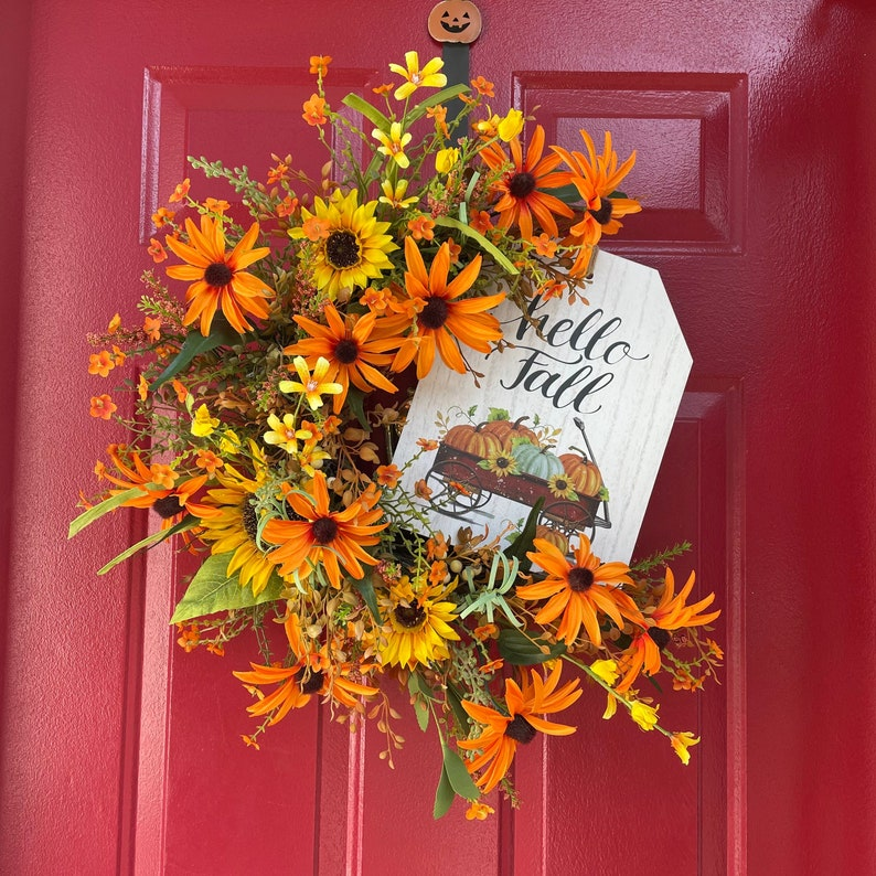 Fall Wreath Farmhouse Decor Thanksgiving image 0