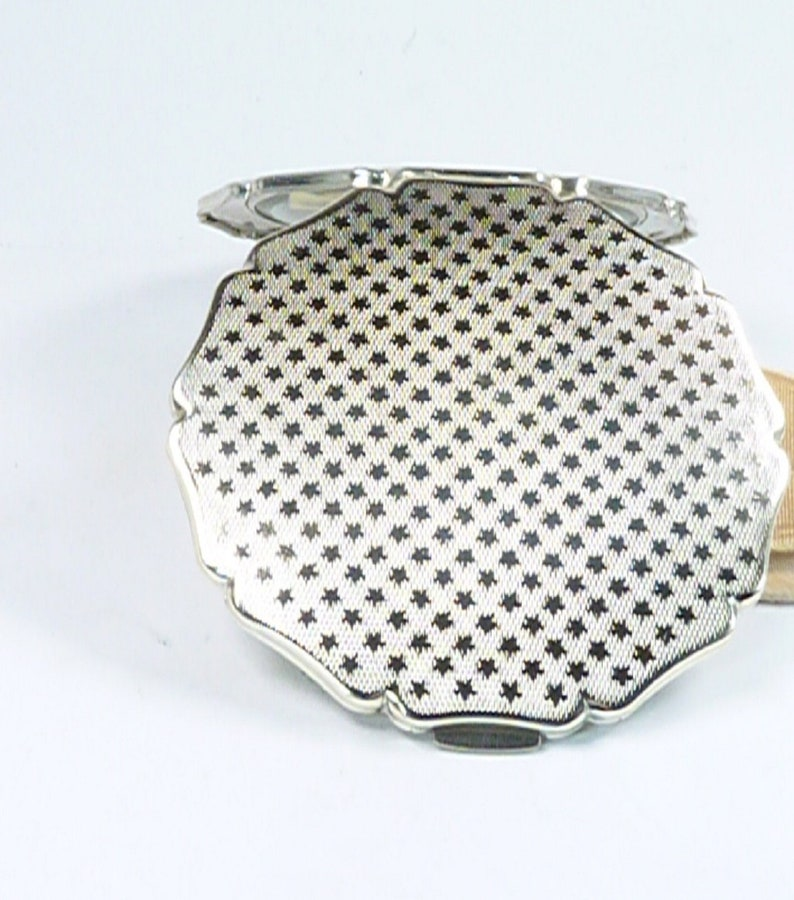 Unused Silver Plated Stratton Compact Mirror Vintage Powder Compact Mothers Day Gift 1950s