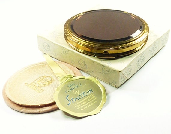 Rare Stratton Powder Compact Antique Compact 1950s