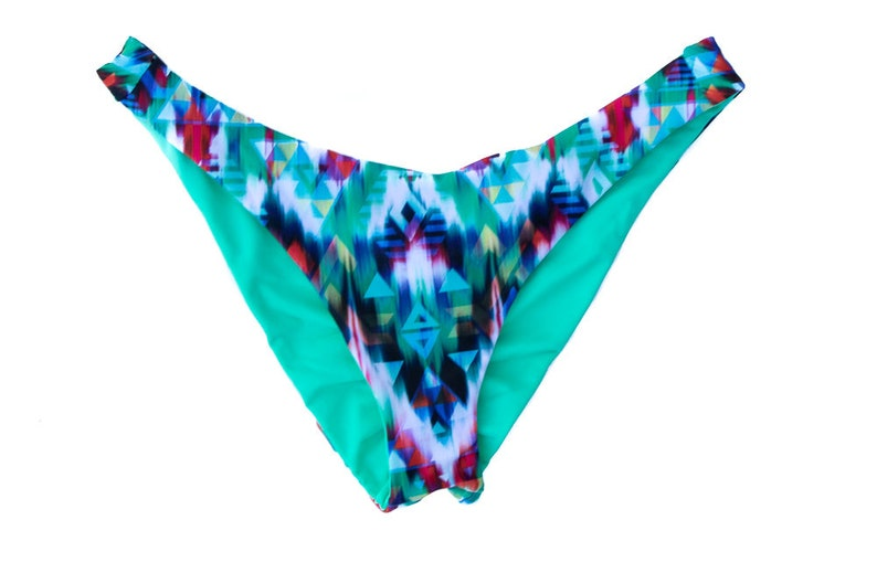 e329089cd5 Cheeky Bikini Bottom Brazilian Cut Swimsuit Reversible | Etsy