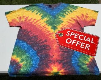 59b79310 Rainbow Pride Plus Size V Pattern Rainbow Tie Dye Tee Shirt Clearance Item  Sale Item