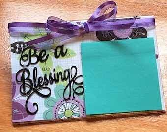 Sunday school gift etsy sticky note holder sunday school gifts easter basket stuffers for her negle Image collections
