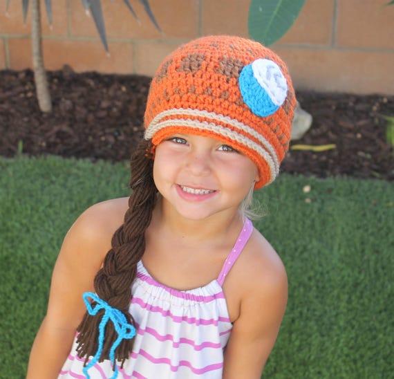 Moana Inspired Crochet Hat Handmade to Order Newborn to  14b7385bc05