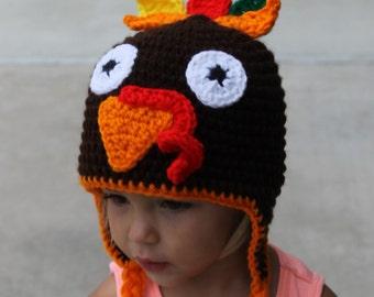 Turkey Hat - Newborn to Adult - Handmade to Order