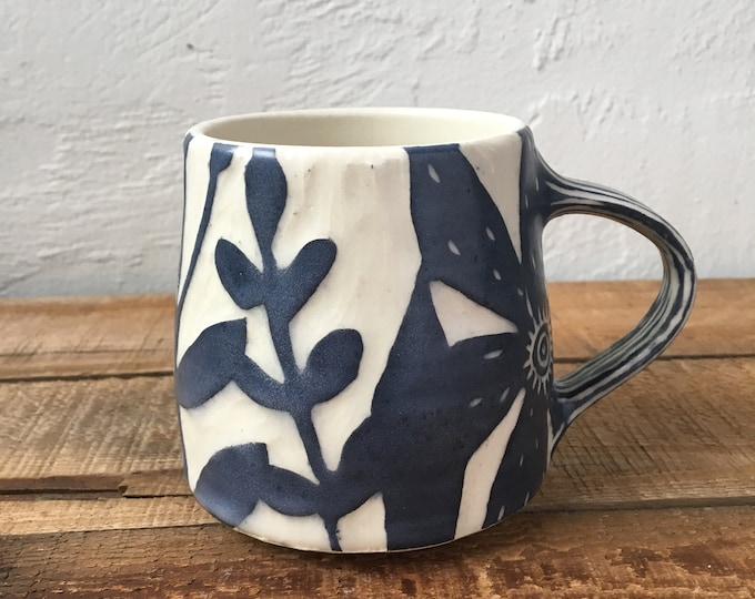 Featured listing image: floral Mod Mug