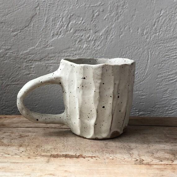 White Rustic Mug #74