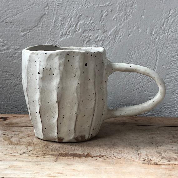 Rustic white Mug #76