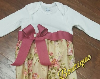Floral Baby gown