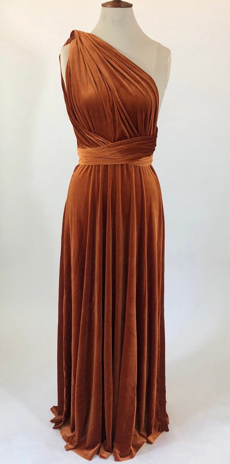 fdc6c7a3311 Copper bridesmaid dress rust multiway dress infinity dress