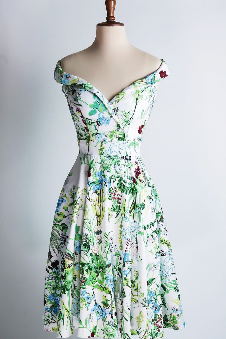 Summer meadow dress off-the-shoulder dress made-to-measure image 0