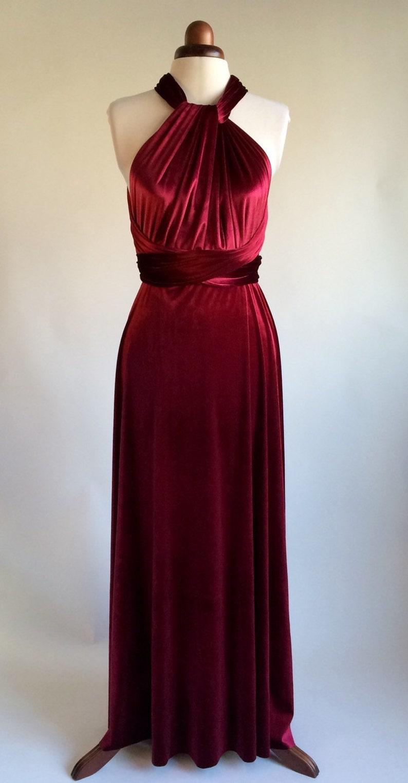 b0b3563d367 Infinity dress bridesmaid dress prom dress burgundy velvet
