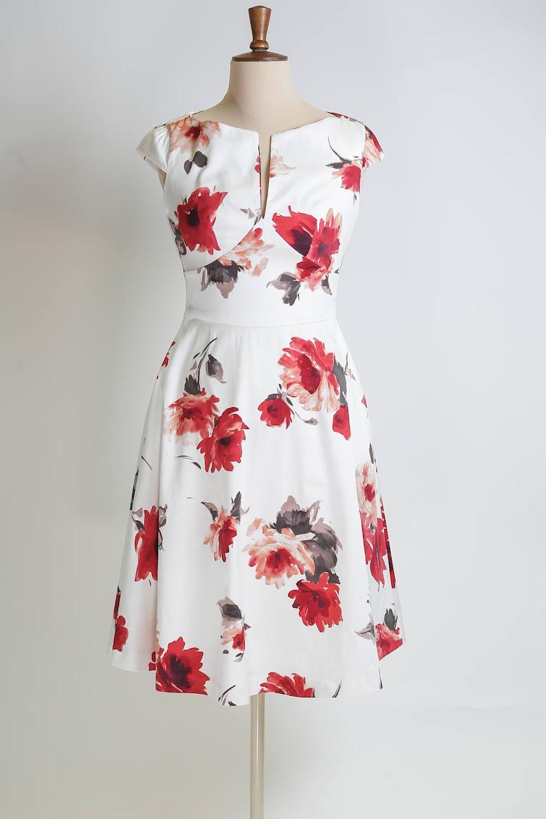 66f8eeb9dd1 Floral dress summer dress made-to-measure dress mid-length