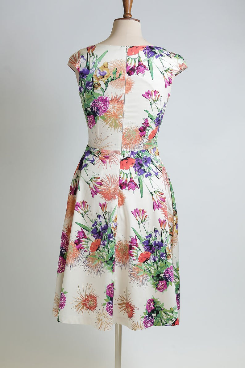 64a2836cba6 Summer dress floral dress made-to-measure dress mid-length
