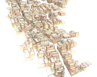 Boston North End Print 2