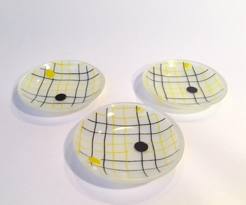 7a299e4455f Vintage kitchen 3x petit fours bonbon saucers fifties