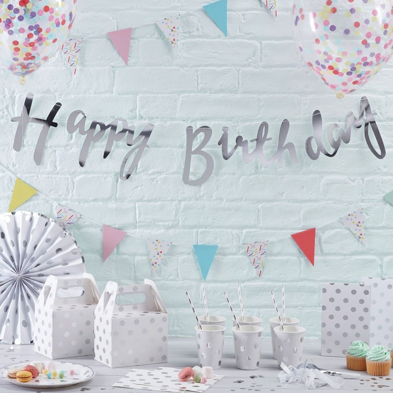 Paper Cups Silver Party Cups Silver /& White Paper Cups Baby Shower 8 Per Pack 1st Birthday Party Silver Paper Cups Party Cups