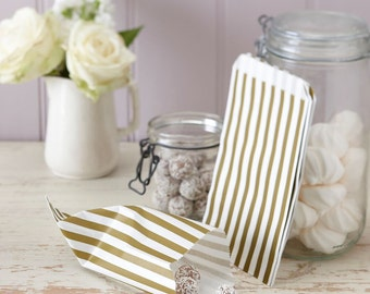 Candy Bags | Vintage Style Wedding | Gold Bags | Wedding Candy Bags | Gold Treat Bags| Paper Bags | 25 Bags per pack | Gold Paper Bags