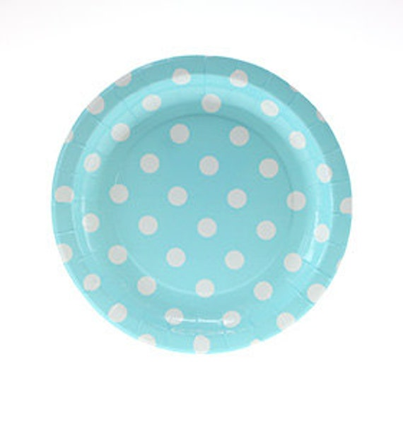 Plates | Cake Plates | Paper Plates | Blue with White Dots Plates | Blue and White Party Plates | Polka Dot Plates | 12 per pack from CastlesandCupcakes on ...  sc 1 st  Etsy Studio & Plates | Cake Plates | Paper Plates | Blue with White Dots Plates ...
