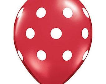 Balloons | Red Polka Dot Balloons | Red Balloons | Red Party Balloons | Polka Dot Balloons | Party Balloons | Dot Balloon | 12 Inch Balloons