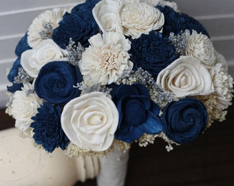Navy Blue Bouquet Etsy