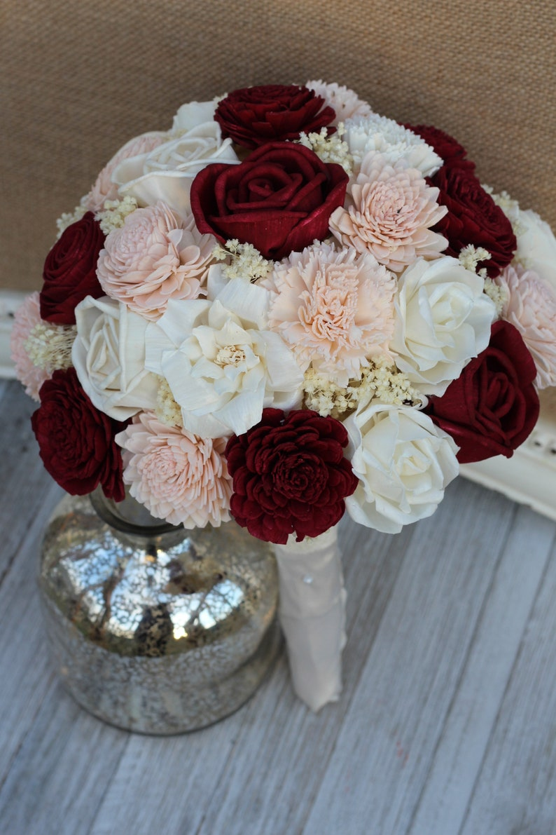 Sola Wood Flower Bridal Bouquet