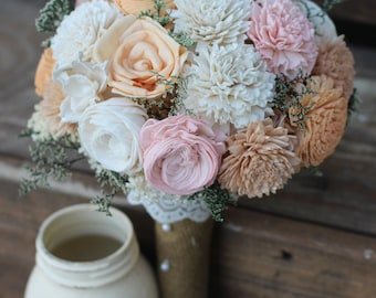 Pink Peach Cream Bouquet