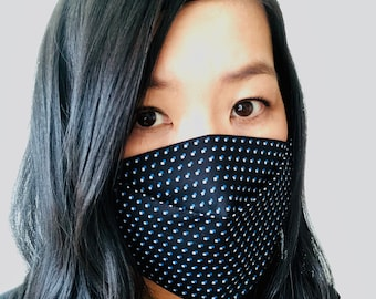 3D Origami Face Mask | Reusable Cotton Face Mask with insert for filter | Fabric Face Mask |