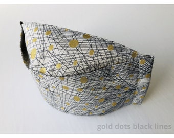 3D Origami Face Mask | Reusable Cotton Face Mask with insert for filter | Fabric Face Mask | Metallic Gold Face Mask