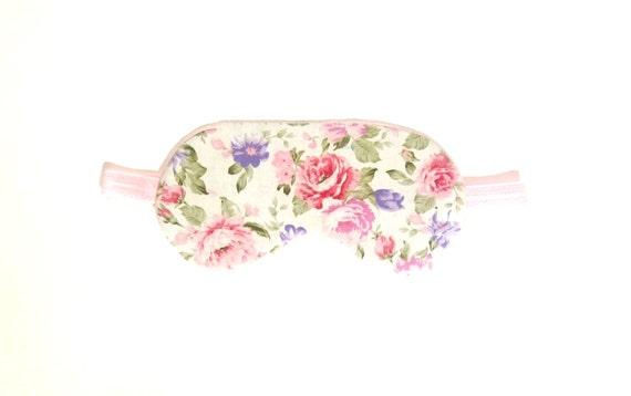 76846b5fd Rose Floral Eye sleep mask Organic cotton eye pillow in