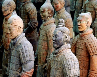 Chinese Soldiers,Fine Art, Color Photograph, X'ian, China