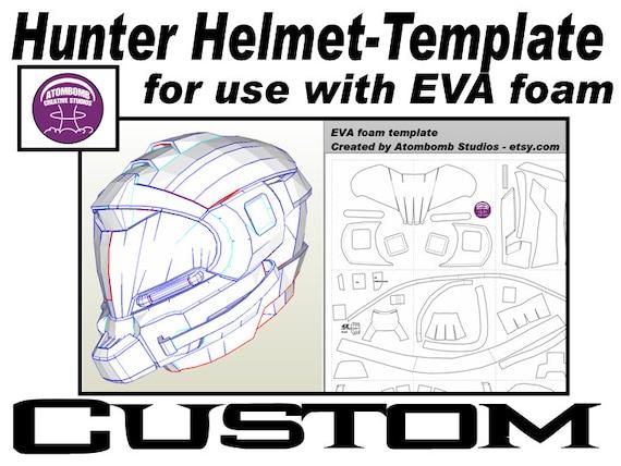 hunter helmet custom template for eva foam pdf etsy