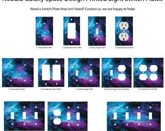 Nebula Galaxy Space Design Printed Light Switch Plates