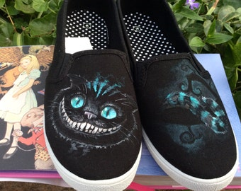 fb527f6dc89012 Cheshire Cat Custom Hand-Painted Shoes    Men s