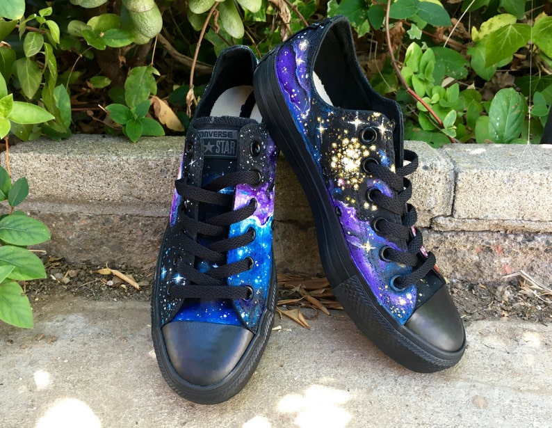 db66d3c2db10 Galaxy Converse    Custom Hand-Painted Space-Themed Shoes