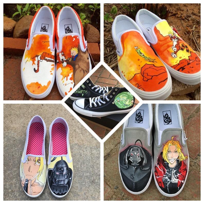 4d69738483 Custom Designed Cartoon Animation Hand-Painted Shoes