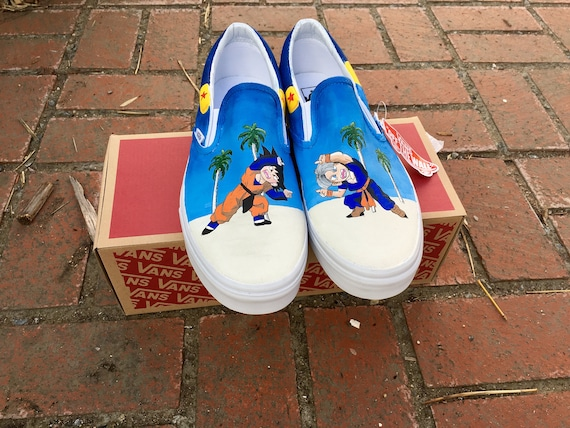 Dragonball Z Version 2 Shoes Custom Hand Painted Vans Or Etsy
