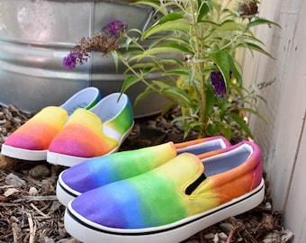 Rainbow Custom Hand-Painted Shoes