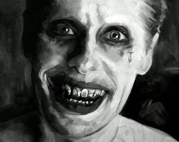 Articles Similaires à Jared Leto Fine Art Print (le Joker