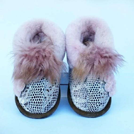 Baby girl moccasins baby winter shoes
