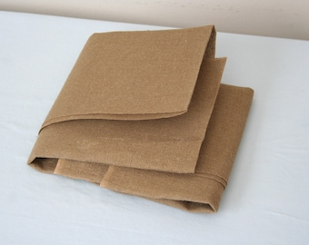 Burlap Fabric Piece, Fairly Smooth, 100% Cotton Fabric, 42 inches by 19 inches