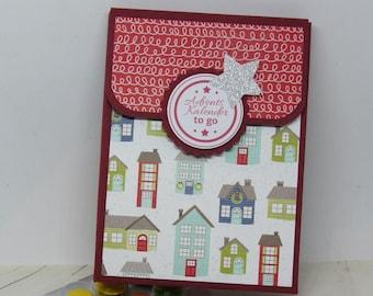 Advent Calendar to go, Mini - Advent Calendar, Give away, Advent Calendar with Chocolate Lentils