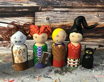 Wooden Pegs Inspired by Hocus Pocus
