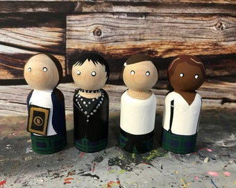 Wooden Peg People Inspired by The Craft