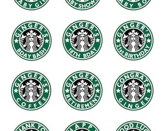 photo regarding Starbucks Logo Printable titled Starbucks occasion Etsy