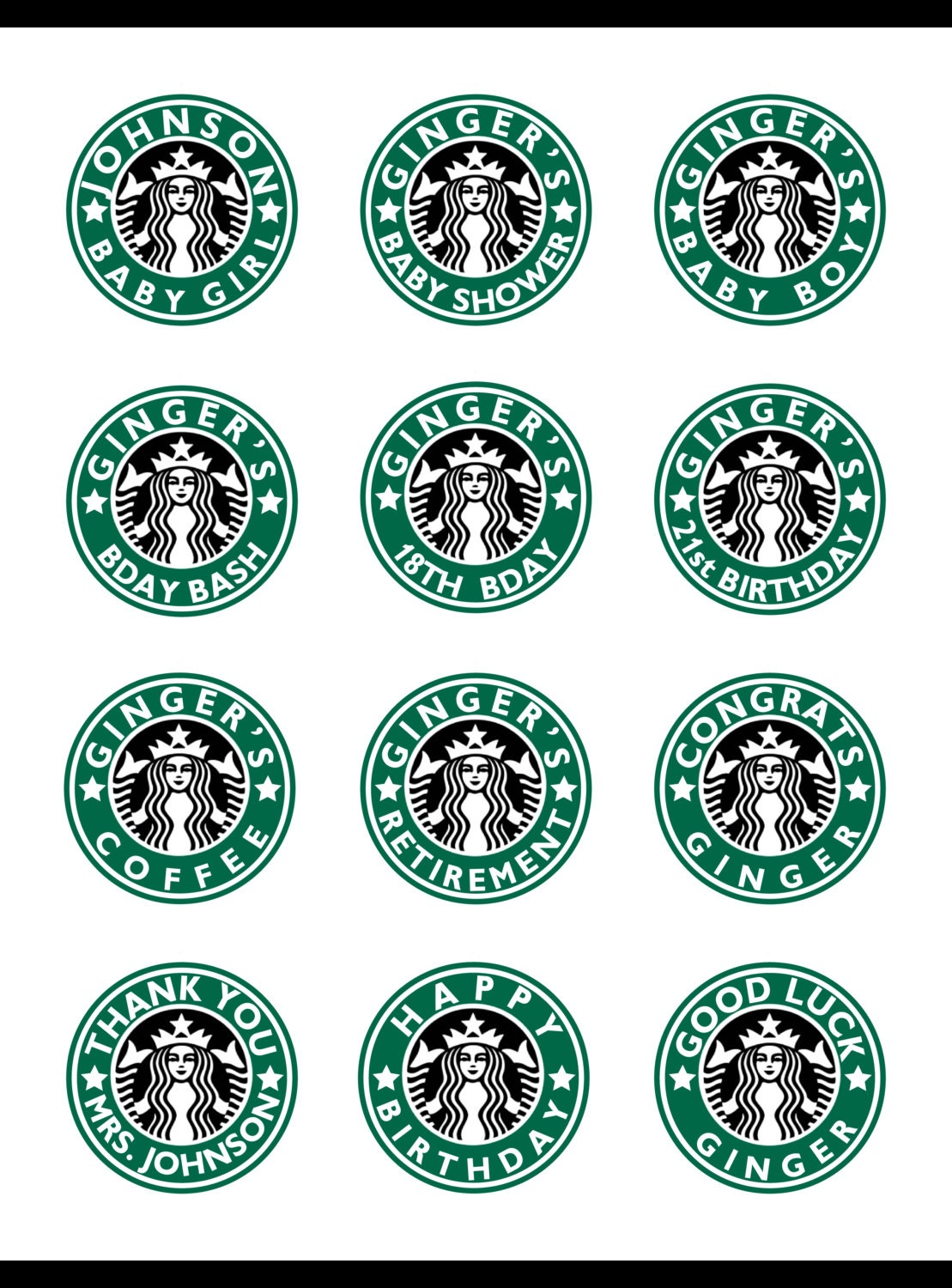 It's just a photo of Dynamic Starbucks Printable Logo