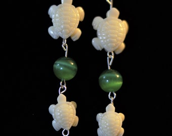Mama and Baby Turtle Earrings