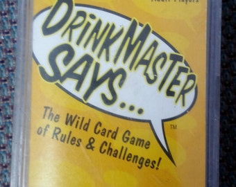 Adult Card Game Drinkmaster Says