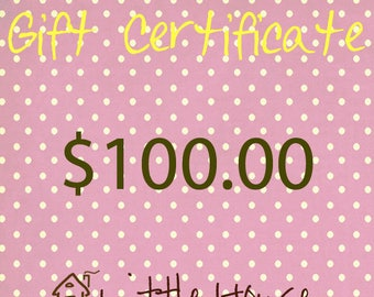 Gift Certificate|Mother's Day|Gifts|Birthday|Christmas