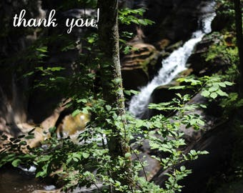 Waterfall Greeting Cards - Thank You Cards - Nature Cards - Blank Greeting Cards - Handmade Cards - Greeting Card Set - Nature Inspired
